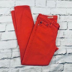 Antropologie AG Stevie Red Ankle Skinny Jeans